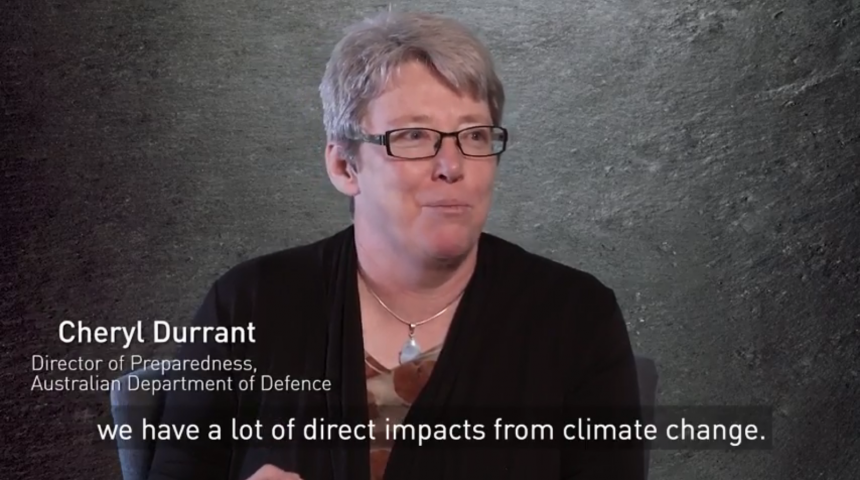 Is climate change capturing the response capacity of national security forces? - Cheryl Durrant